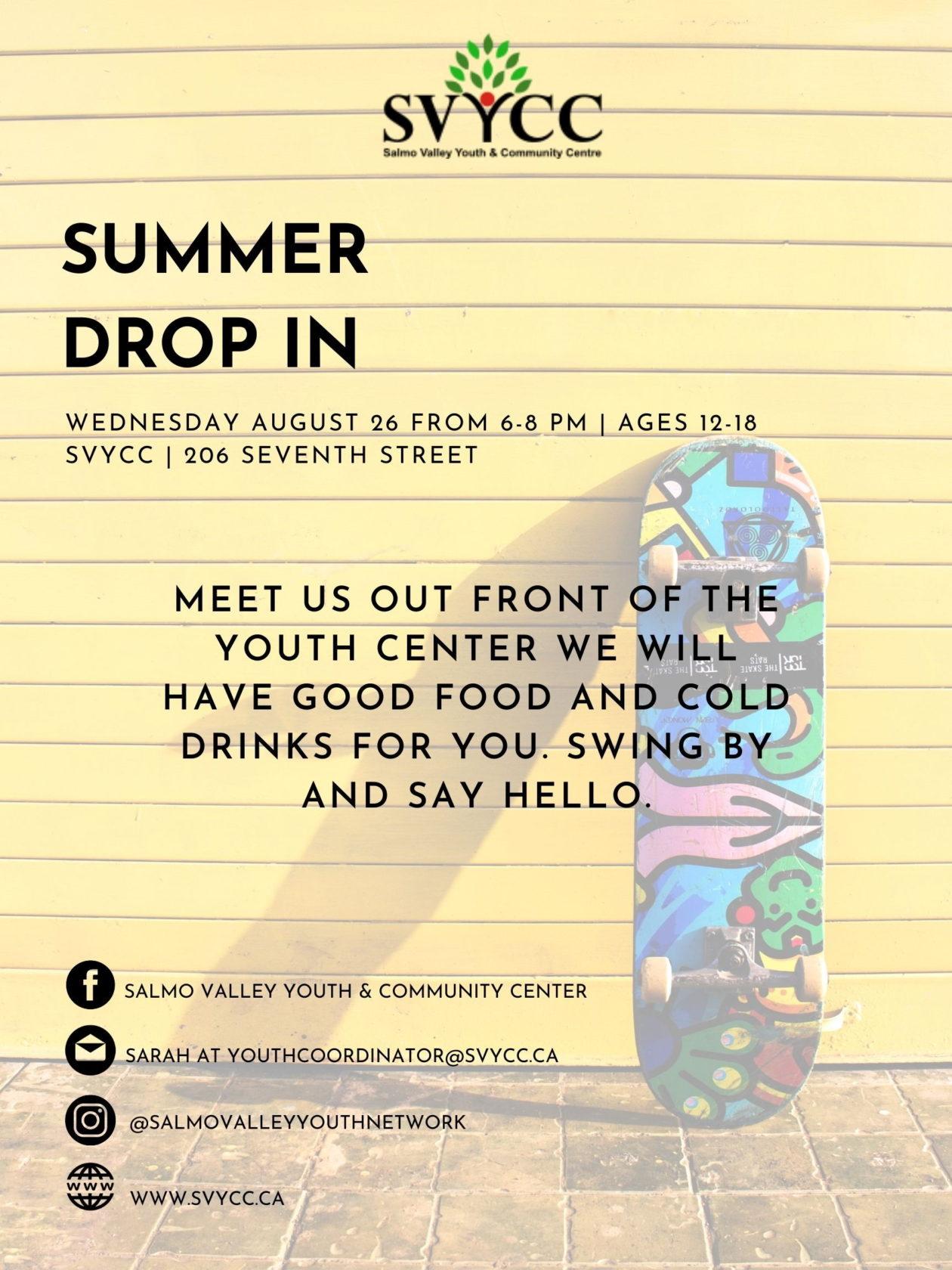 Summer Drop In Aug 2020